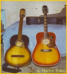 Martin Eden's 12th Birthday/1st Guitar and Most Songs Written On (Bolero) Guitar
