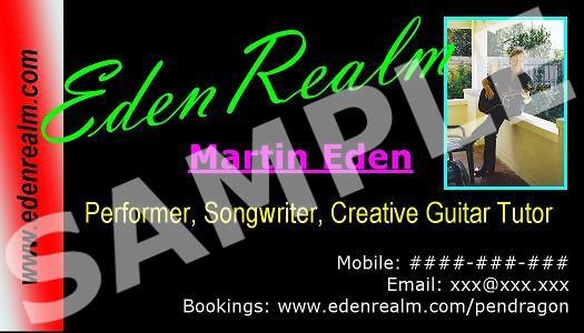 Martin Eden's BUSINESS CARD DESIGN #1